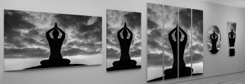 Motivdruck: Yoga | Wolken | Lotus